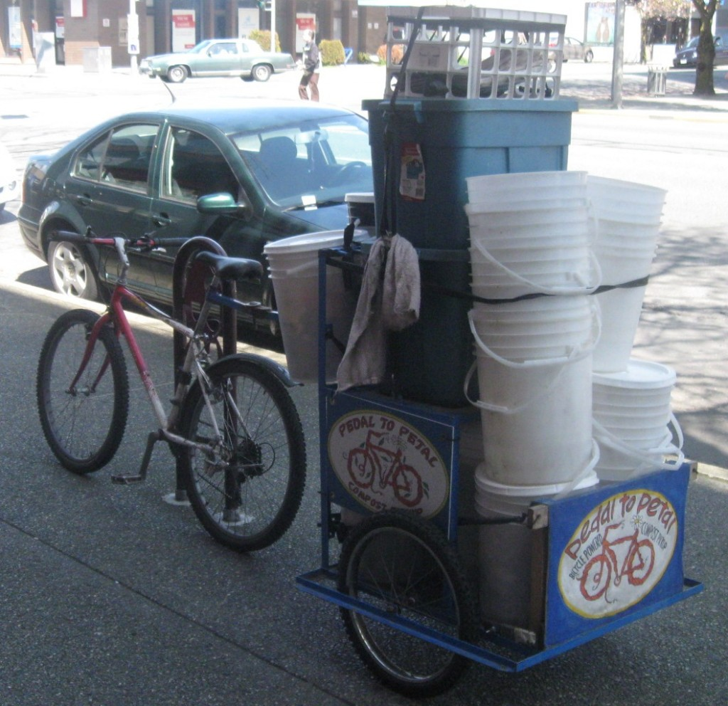 bucket hauling bike trailer