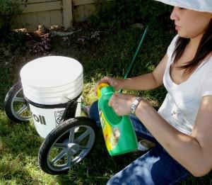 bucket garden cart