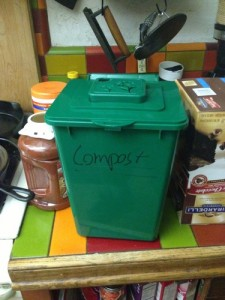 kitchen compost container with carbon filter