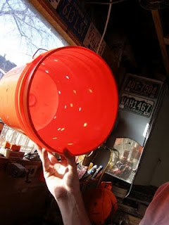 Five gallon bucket with holes