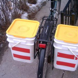 five gallon bike cargo