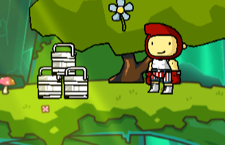 white plastic buckets in scribblenauts