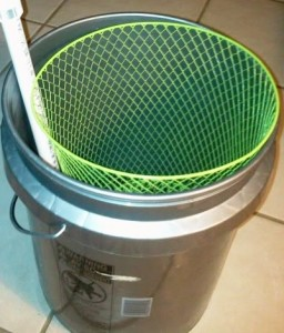 large basket egg washer 5 gallon bucket