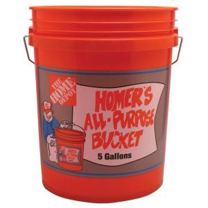 five gallon bucket orange home depot