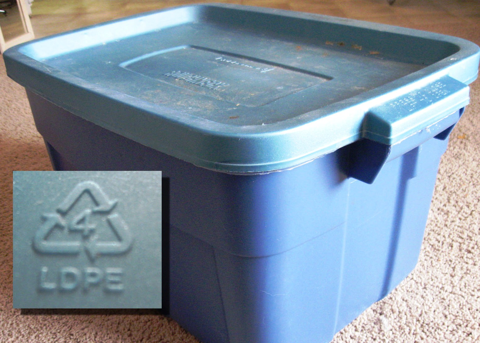 Recycled plastic storage boxes - 18 Gallon Food Grade Bucket Plastic Type 4