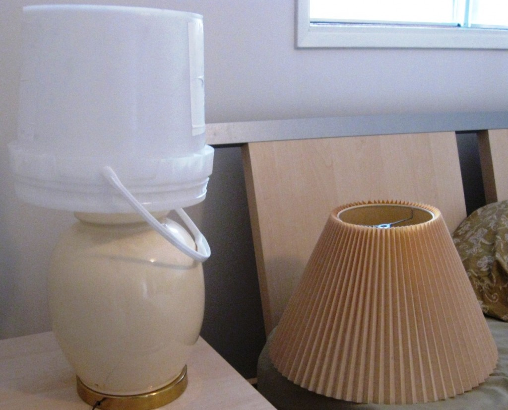 bucket light and lampshade