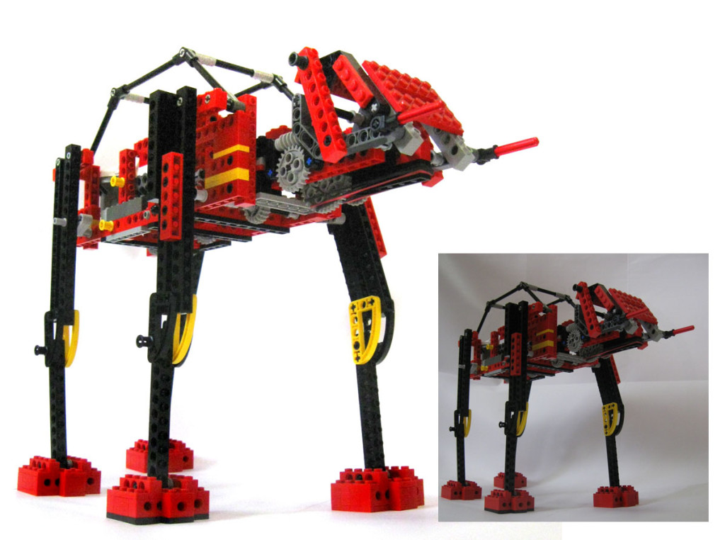 lego at-at before and after post production in photoshop