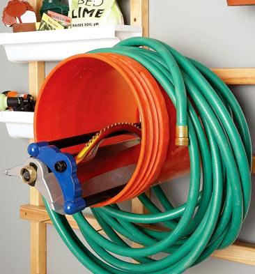Garden Hose Storage Ideas 7 galvanized wash tub Sprinkler Holder And Garden Hose