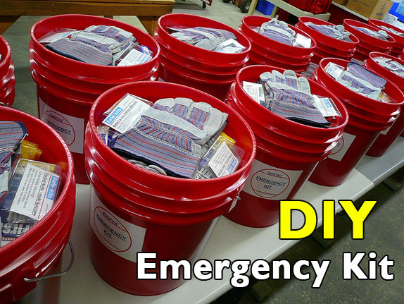 diy bucket emergency disaster kit