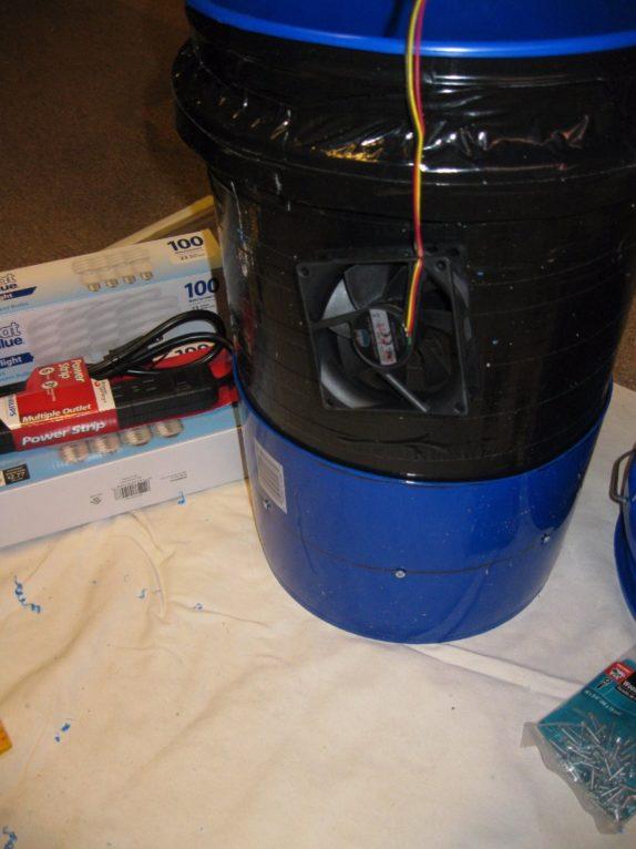 space bucket ventilation fan