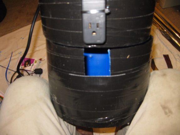 hole in drain pan space bucket