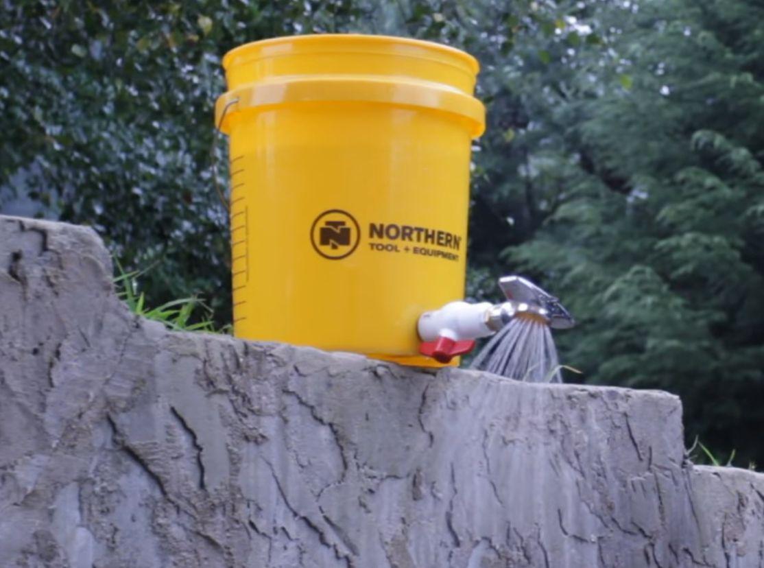 5 Gallon Bucket Portable Shower Five Gallon Ideas