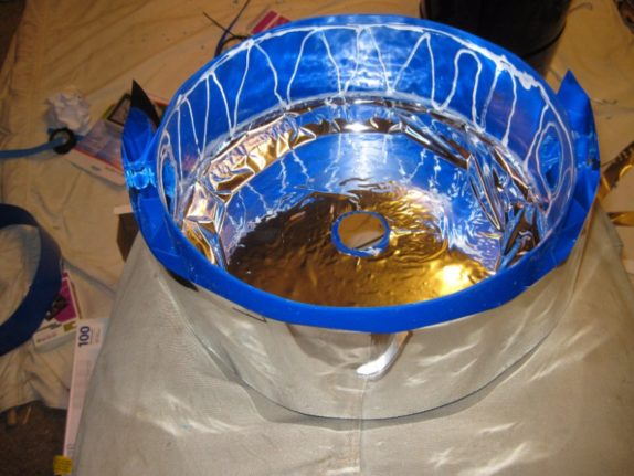 space bucket top mylar covering