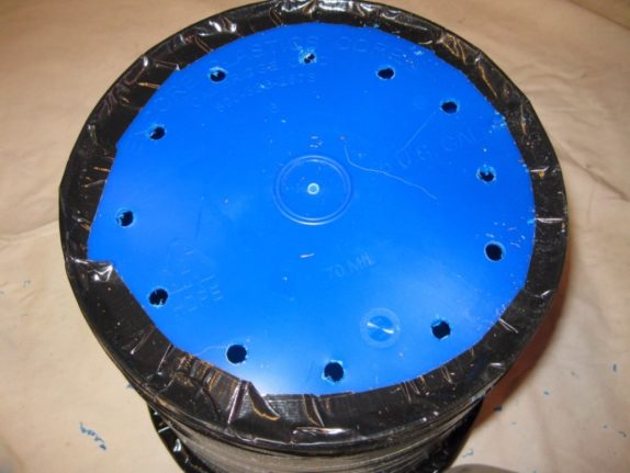 drill holes space bucket bottom irrigation water drainage