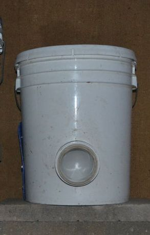 bucket chicken feeder