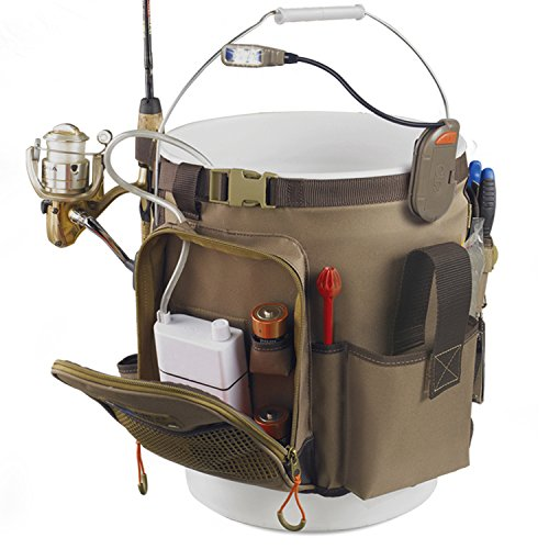 fishing bucket organizer five gallon equipment