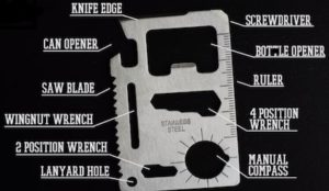 82 survival kit ideas that fit in a 5 gallon bucket updated 5 credit card multitool solutioingenieria Choice Image