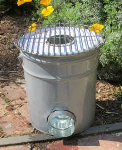 five gallon bucket rocket stove