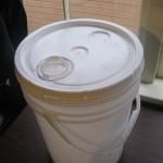 five gallon bucket with spigot