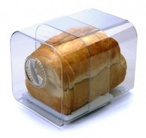plastic bread box