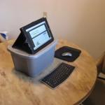 five gallon bucket desk