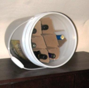 five gallon wine rack
