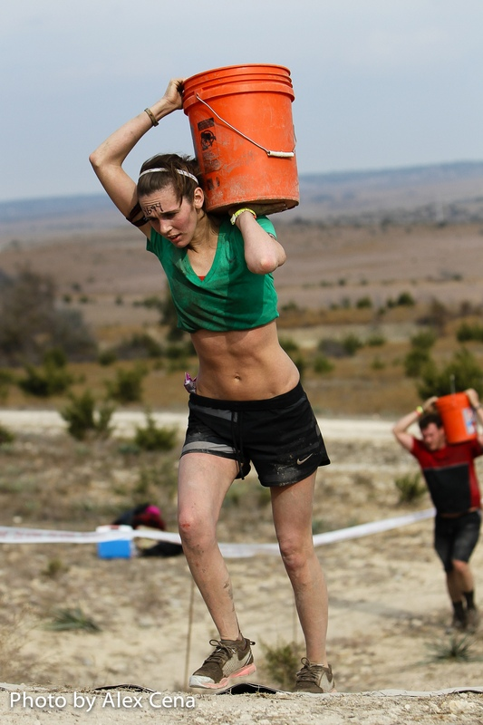 spartan race with a 5 gallon bucket
