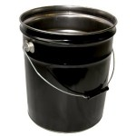 metal 5 gallon bucket steel
