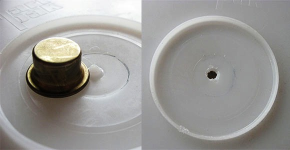 bucket light hole drilled