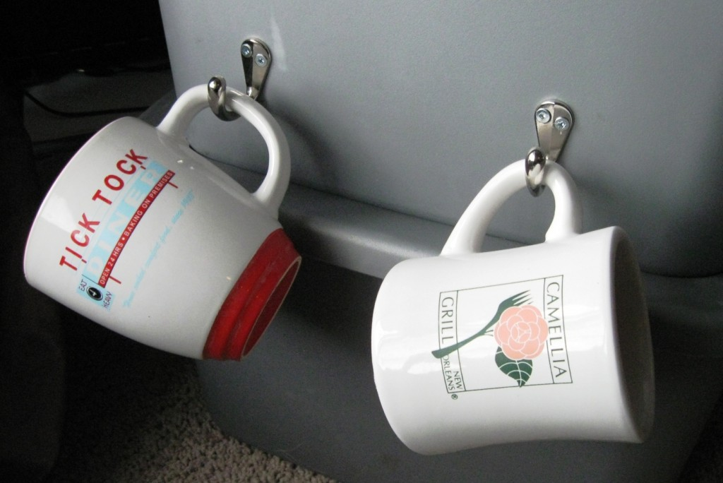 cup hooks on buckets