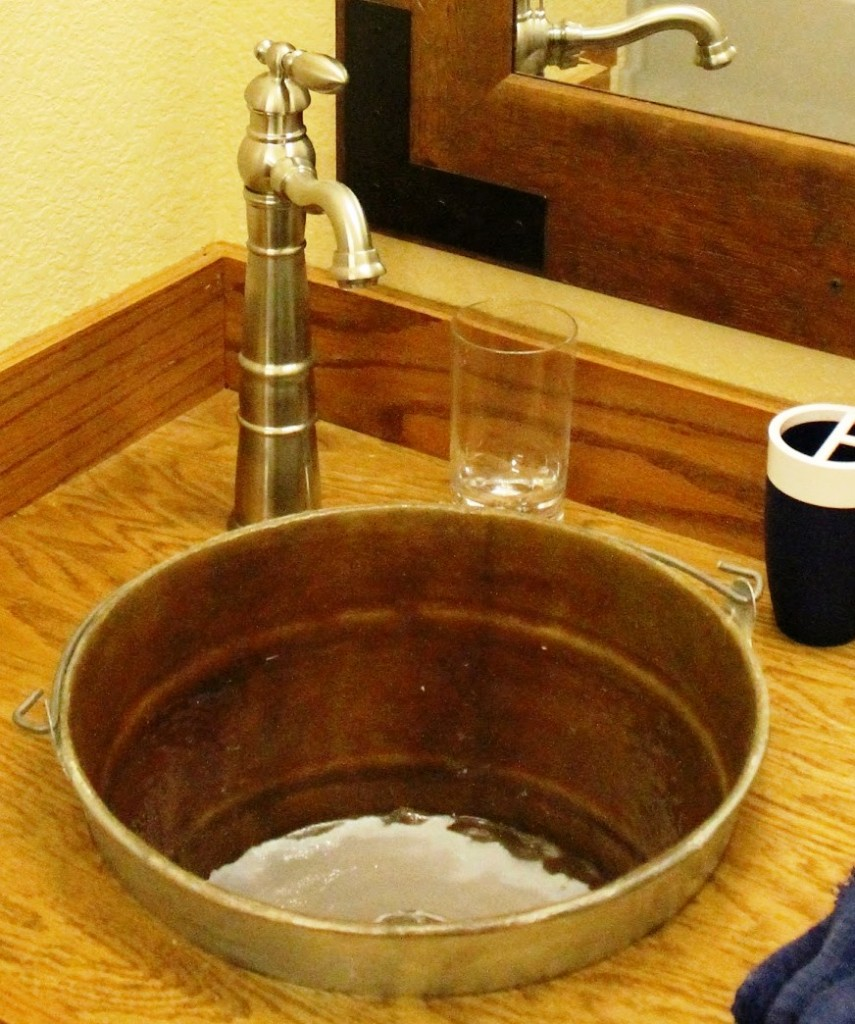 metal bucket sink