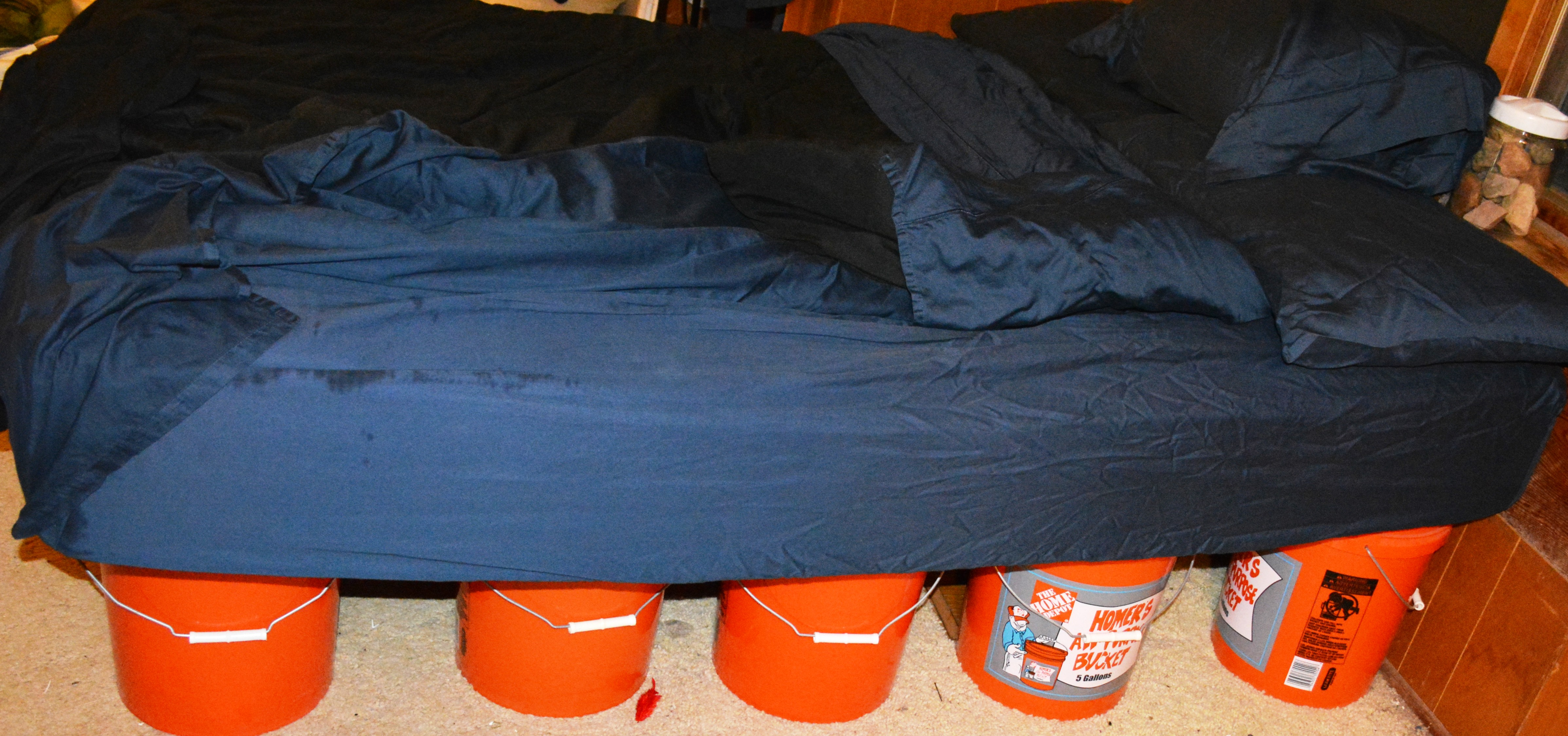 diy air mattress frame 5 Gallon Bucket Bed Frame | Five Gallon Ideas diy air mattress frame