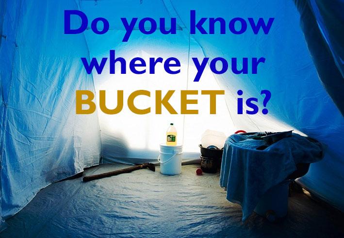 5 gallon bucket camping ideas