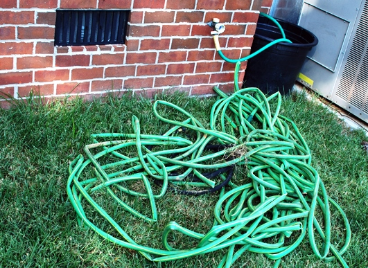 5 old hoses I got for free from Freecycle