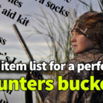 Hunter's Bucket Checklist – 23 items you must take with you