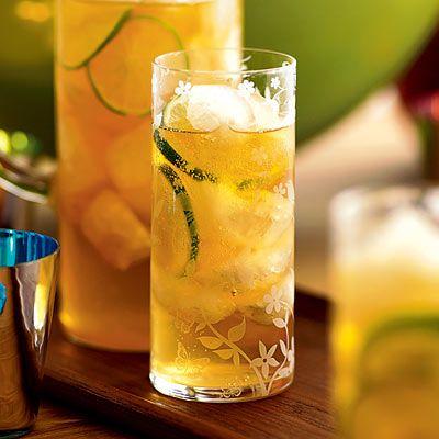 cocktail ice lemon ginger