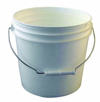 white two gallon bucket small comfortable